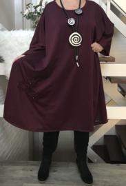 Monique oversized A-lijn jersey jurk apart (extra groot)