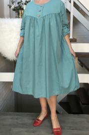 ITALIA  katoen A-lijn jurk stretch/in meerdere kleuren