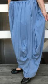 Moonshine jersey ballonbroek met linnen inzet extra groot /in meerdere kleuren