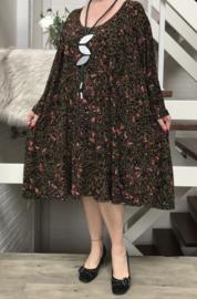 Emily oversized viscose jersey A-lijn tuniek/jurk met zakken apart (extra groot)stretch