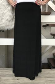 ITALIA rok met elastische tailleband zwart