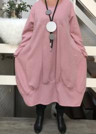 ITALIA jersey viscose A-lijn jurk apart /in meerdere kleuren
