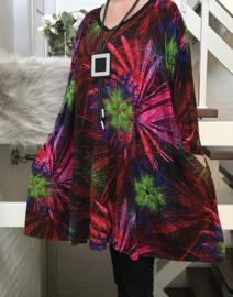 Anabel oversized A-lijn viscose jersey tuniek/jurk met zakken apart (extra groot) stretch