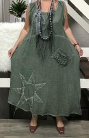 Moonshine katoen jurk zonder mouwen (extra groot)/in meerdere kleuren