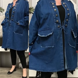 Moonshine A-lijn jeans blazer/jas met veel stretch