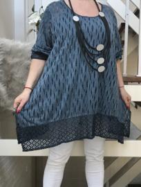 Moonshine de modieuze kleuring jersey A-lijn tuniek+ top/in meerdere kleuren