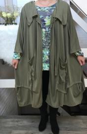Donna oversized jersey A-lijn blazer/jas (extra groot) apart