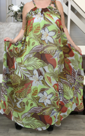 Norma oversized A-lijn zomer chiffon jurk met zakken  (extra groot)