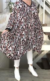 Doreen oversized  jurk/wrap met zakken apart (extra groot)
