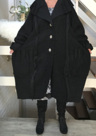 ITALIA oversized jersey mantel/jas ( extra groot en lang) stretch/ in meerdere kleuren