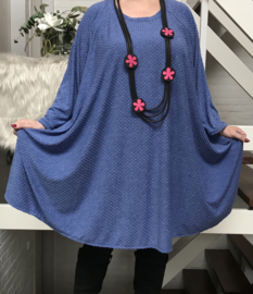 Jade oversized jersey A-lijn tuniek/ jurk met zakken apart stretch (extra groot)