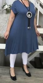 ITALIA viscose A-lijn tricot jurk stretch /in meerdere kleuren