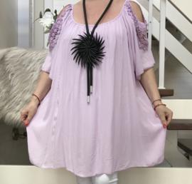 IITALIA oversized viscose blouse/tuniek/in meerdere kleuren
