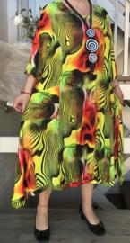 Naveed viscose A-lijn jurk met zakken