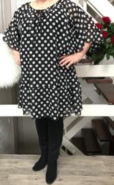 Alison oversized A-lijn  jurk apart (extra groot)