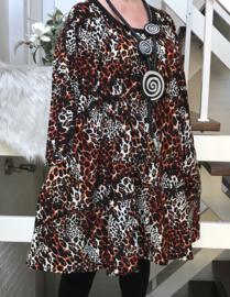 Mila oversized A-lijn jersey tuniek/jurk met zakken apart (extra groot)