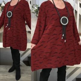 New Jersey viscose A-lijn jurk stretch