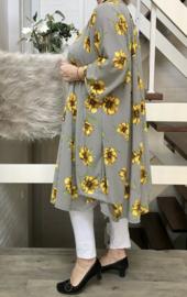 Rebeca oversized viscose crepe A-lijn jurk/tuniek met zakken apart   (extra groot)