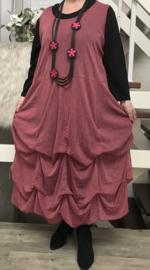 Moonshine jersey A-lijn tule overjurk met verstelbare plooien stretch /in meerdere kleuren