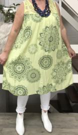 ITALIA  viscose jurk met kant/in meerdere kleuren