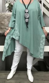 Moonshine jersey katoen asymmetrisch A-lijn tuniek  apart/in meerdere kleuren