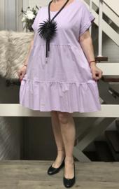 ITALIA MODE katoen jersey   A-lijn jurk /tuniek stretch