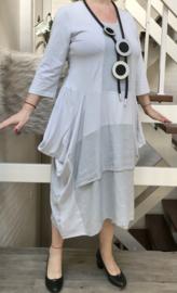 SINNE design.. A- lijn katoen/linnen  jurk stretch