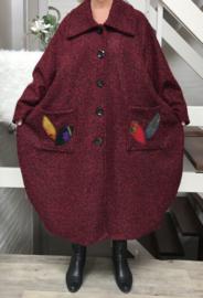 Moonshine oversized gevoerde mantel/ jas ( extra groot) wol/viscose/acryl
