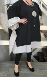 Kate oversized jersey katoen tuniek/poncho apart (extra groot)