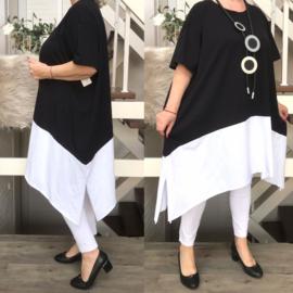 ITALIA MODE katoen  A-lijn jurk (extra groot) stretch  /in meerdere kleuren
