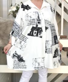 ITALIA oversized katoen blouse/hemd (extra groot)
