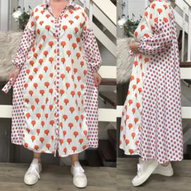 SEE MORE  katoen A-lijn jurk/hemd