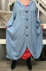 Moonshine A-lijn tencel jeans blazer
