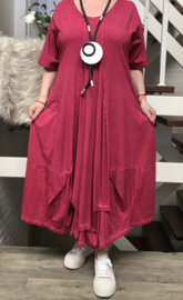 SINNE design.. de modieuze kleuring A-lijn katoen jurk stretch