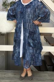 Yvonne oversized A-lijn kanten blazer/jas  (extra groot)  apart