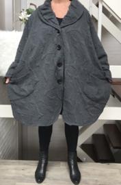 Moonshine oversized gevoerde mantel/ jas ( extra groot) wol/viscose/in meerdere kleuren