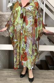 Greta oversized chiffon jurk/poncho/wrap apart   (extra groot)