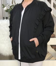 ITALIA  korte jas met ritssluiting stretch (extra groot) travelstof