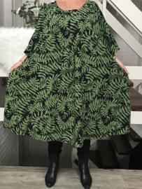 Rachel oversized A-lijn viscose jurk apart (extra groot)stretch