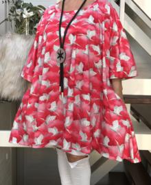 Margaret oversized A-lijn jersey tuniek/jurk met zakken apart (extra grot)