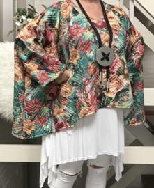 Sophie  oversized jersey top/tuniek/wrap apart (extra groot)