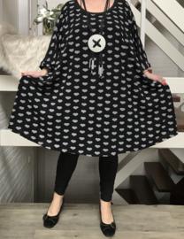 Margaret oversized A-lijn jersey jurk met zakken apart (extra groot)
