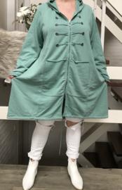 ITALIA  oversized joggingstof katoen jersey blazer met capuchon