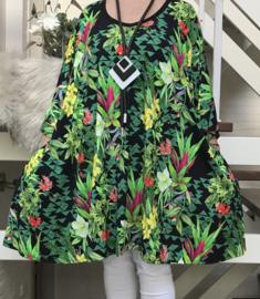 Emilie oversized A-lijn katoen jersey tuniek met zakken apart (extra groot)stretch