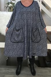 Ericka oversized A-lijn jersey jurk apart (extra groot)