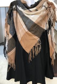 ITALIA klassieke vierkante zachte grote plaid sjaal