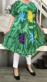Laura viscose A-lijn jurk/in meerdere kleuren