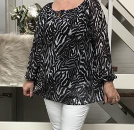 ITALIA MODA oversized viscose top/blouse gevoerd