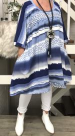 Eleanor oversized A-lijn jersey jurk/tuniek met zakken apart (extra groot)
