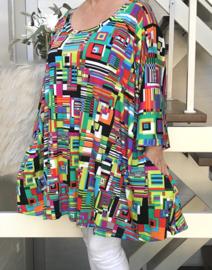 Rosalie oversized A-lijn jersey tuniek/jurk met zakken apart (extra groot)